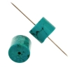 Turquoise Stablized Magnesite 10x13mm 8In Strand